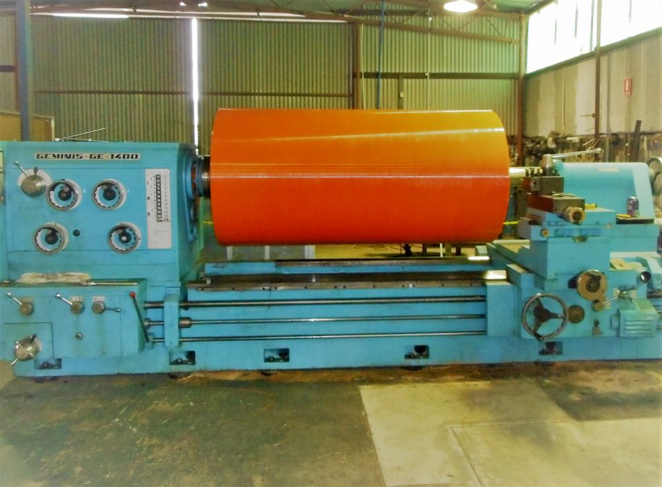 Conveyor Pulley - Machining to size - Large Pulley on Lathe