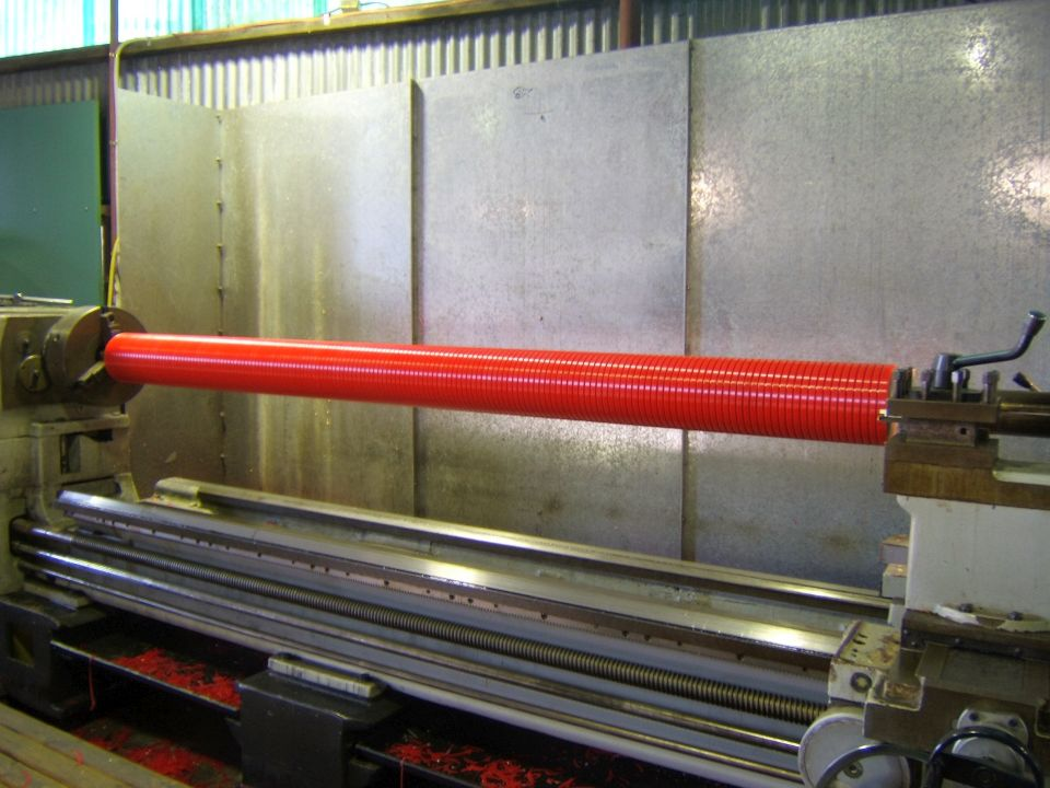 Conveyor Pulley and Roller - Long Grooved Roller