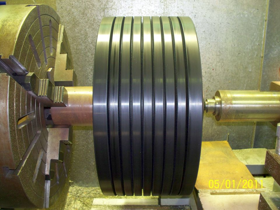 Engineering - PU Tyre with Grooves - Trommel Roller